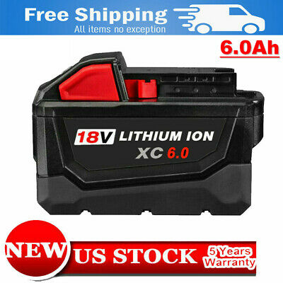 New For Milwaukee 48-11-1862 M18 Lithium XC 6.0 Extended Capacity Battery Pack