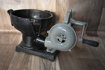 Vintage Style Forge Furnace With Hand Blower Pedal Type Handle Blacksmith
