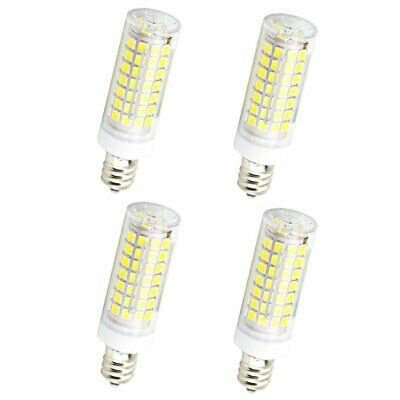7W Non-dimmable E12 LED Mini T3 T4 Candelabra Base Bulb for Ceiling Fan (4 Pack)