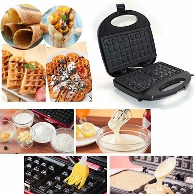 Household Non-stick Waffle Maker Iron Machine 2Slice Automatic Temp Control 750W