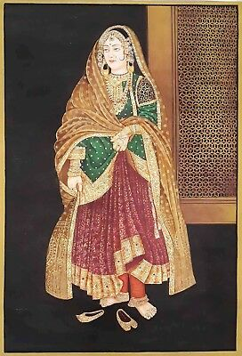 """Huge~Size ! Original Oil painting Indian Lady On Canvas By Hand Painted 31""""x43"""""""