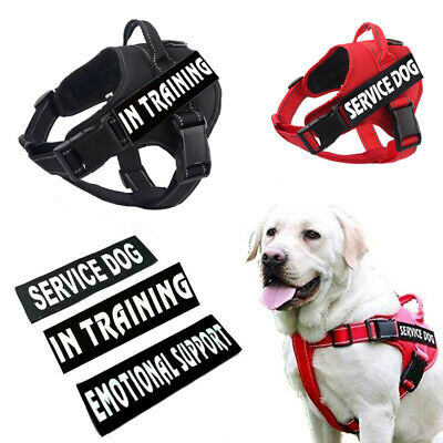 No-Pull Harness Service Dog Reflective Pet Puppy Walk Out Outdoor Vest & Patches