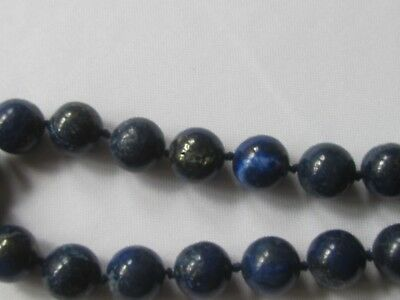 genuineBlue lapis lazuli, Choker/AAAgrade,gem quality/12mm/27 round/22ins  long