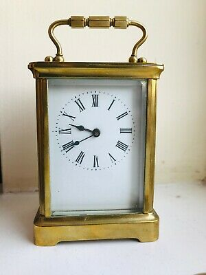 Vintage French Brass Carriage Clock late - full working order