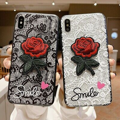 Lace Rose Flower Hard Case For Huawei Y9 Prime 2019 Honor 9X 20 Pro P30 Mate 20