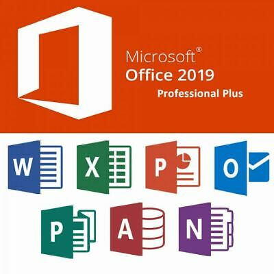Microsoft Office 2019 Professional Plus 32/64 BIT Vollversion Deutsch / English