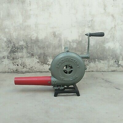 Forge Furnace With Hand Blower Fan Old Style Pedal Handle