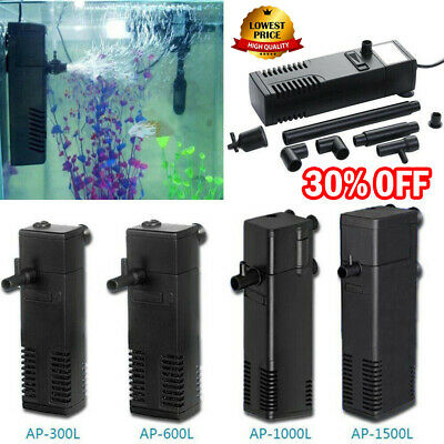 Small Internal Aquarium Filter Water Pump Spray Air Tube Fish Tank Filtration