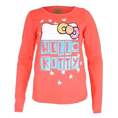 Hello Kitty Bows & Stars Ladies Long Sleeved T-shirt - Official - PROMO PRICE