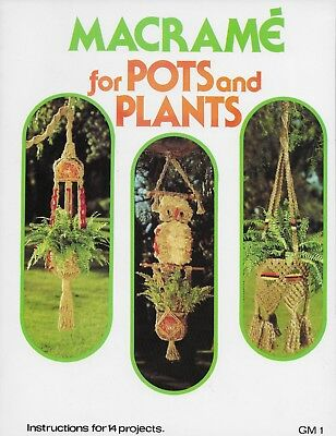 Macrame for Pots and Plants by Betty Seymour Plant Hangers Owl Pattern Book