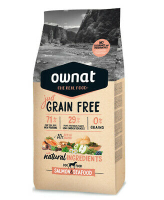 14kg OWNAT JUST Grain Free Salmon & Seafood Hundefutter (ehemals Optima)