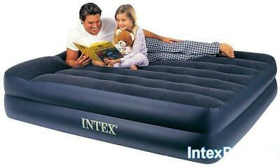 Intex Pillow Rest Raised Queen Airbed with Built-in Pillow and Electric Pump