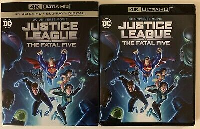 Dc Justice League Vs The Fatal Five 4K Ultra Hd Blu Ray 2 Disc Set + Slipcover