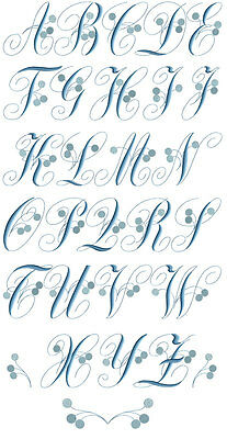 ABC Designs Charlotte Snow Blue Font Embroidery Designs in 2 sizes 54 designs