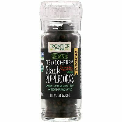 Frontier Natural Products Organic Tellicherry Black Peppercorns 50g