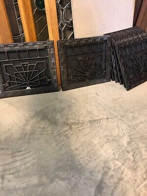 J 7 8 Av Price Separate Antique Cast Iron Deco Wall Mount Heating Grate