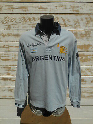 RUCKFIELD Polo Maillot Jersey Argentina French Rugby Club Tournoi Quinze Chabal