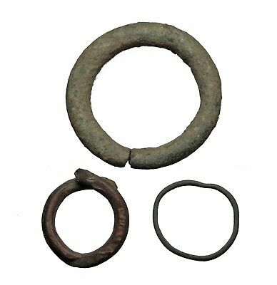 Celtic, Bronze Ring Proto-Money, 800-500 B.C. Lot of 3