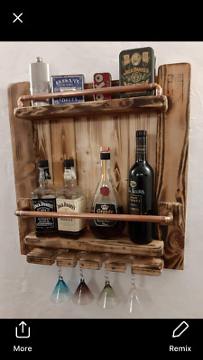 mini bar reclaimed Pallet  timber and copper
