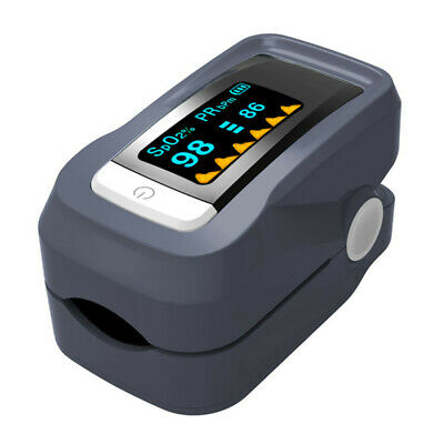 Portable Fingertip Pulse Oximeter Blood Oxygen Saturation Monitor with Lanyard