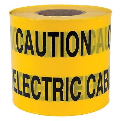"""""""Caution Electric Cable Below"""" Non Adhesive Tape 150mm x 365m"""