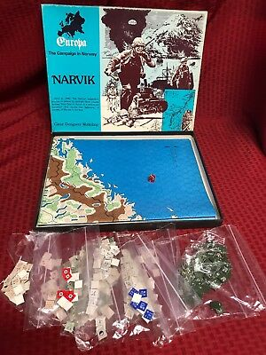 VERY RARE Vintage 1980 Europa Narvik board game