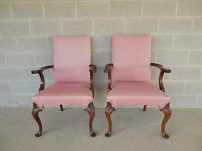 Hickory Chair Fireside Arm Chairs - Pair