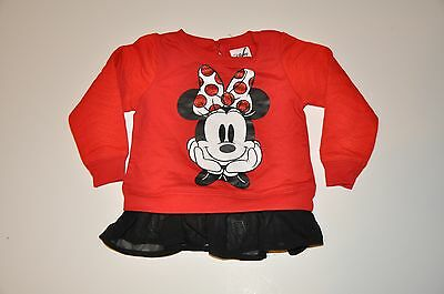NWOT Disney Minnie Mouse Baby Infant Toddler Girls Shirt (12M,18M, 2T) Mickey