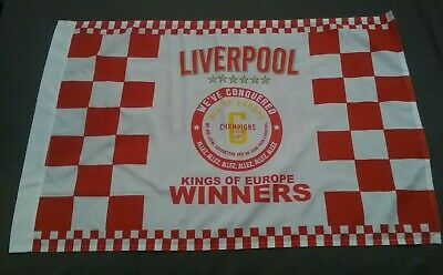 Liverpool Champions League 2019 Winners Flag..kings Of Europe 6 Times..new