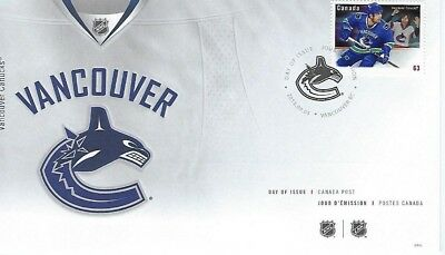 NHL Vancouver Canucks FDC Stamped Envelope Canada Post Collectible Vancouver2013