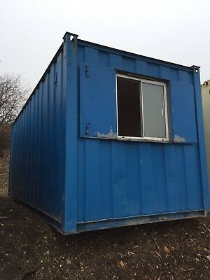 Site Office Cabin Storage Container Anti Vandal Steel 20ft Store Portable