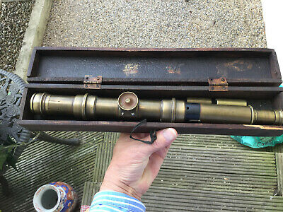 Antique Watkins  Brass Military Depression Range Finder By J.Hicks London