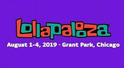 Lollapalooza Festival Friday (8/2/19) Only Single Day Tickets - Chicago