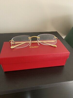 ccbccf0058e4 CARTIER GOLD OCTAGON Eyeglasses Glasses - Authentic New T8100427 ...