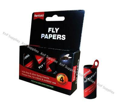 Rentokil FF40 Pesticide Free Sticky Fly Paper (Choose quantity required)