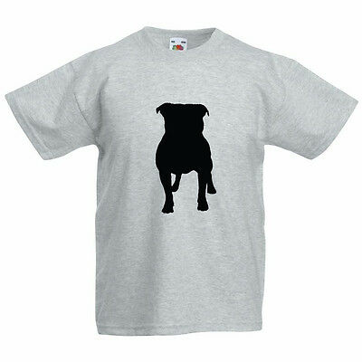 STAFFIE SILHOUETTE - Staffordshire Bull Terrier / Dog Children's Themed T-Shirt