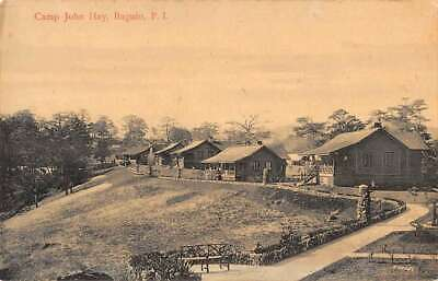Baguio Philippines view of Camp John Hay houses antique pc ZA440576