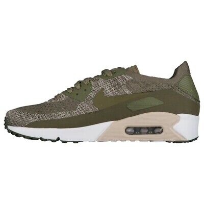 c9a9f92d0b8b9 Nike Air Max 90 Ultra 2.0 Flyknit Running Mens Shoes Medium Olive 875943-200