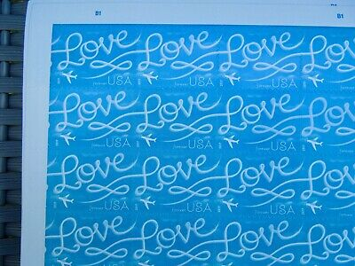 100 USPS Forever LOVE sky writing 1st class skywriting postage Stamps $55 value
