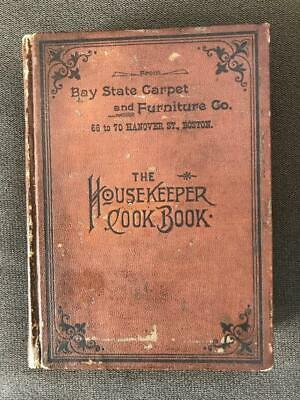 Rare 1894 Antique Cookbook Victorian Cookery Confectionery Cakes Pastry Kitchen
