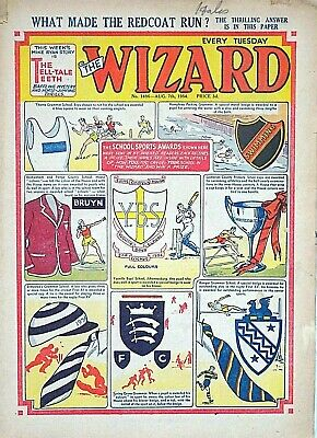 WIZARD - 7th AUGUST 1954 (3 - 9 Aug) RARE 65th BIRTHDAY GIFT !! VGC dandy topper