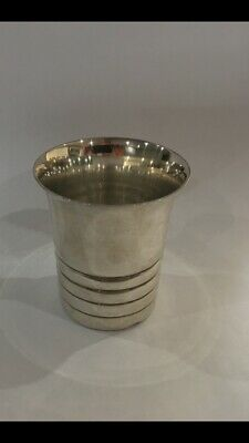 timbale argent massif Style Art-deco