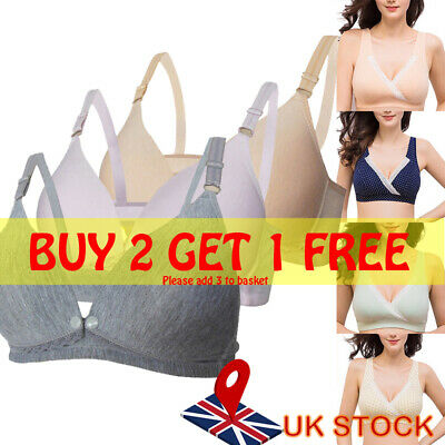 Women Pregnant Maternity Bra Feeding Nursing Breastfeeding Plus Size Feeding Bra