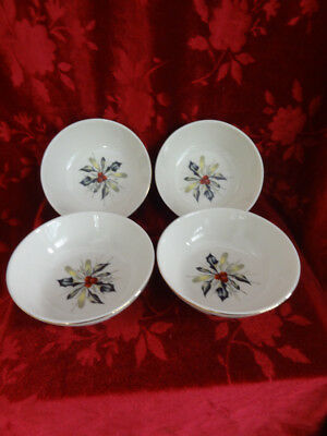 Lenox Winter Greetings Set Of 4 Round Dipping Bowls.