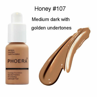 PHOERA Foundation Makeup Full Coverage Long Wear Soft Matte Oil Control 107 USA