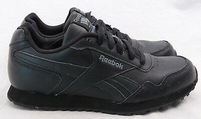 8611ea994c8 Reebok Classic All Black Leather Lace Up Running Sneaker Men s U.S. 5.5  (Wm s ...