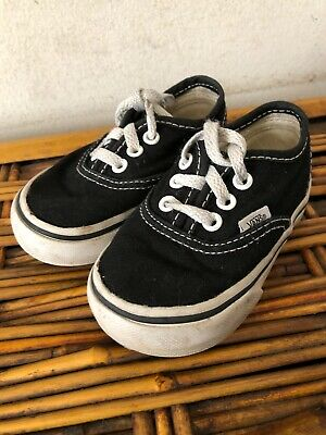 d9b04f2579 VANS AUTHENTIC NAVY White Canvas Infant Toddler Baby Boy Girl Shoes ...