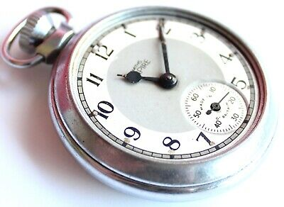 Vintage - Chrome  - Smiths Empire - Pocket Watch - MADE IN GREAT BRITAIN - Rare
