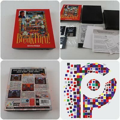 "Very Rare Big Box PC Breakthru A Spectrum Holobyte Game on 3.5"" Floppy Disk"