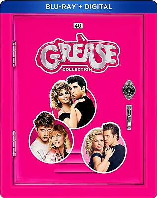 The Grease Collection 3x Blu-ray STEELBOOK (DISCS WERE NEVER PLAYED, No Digital)